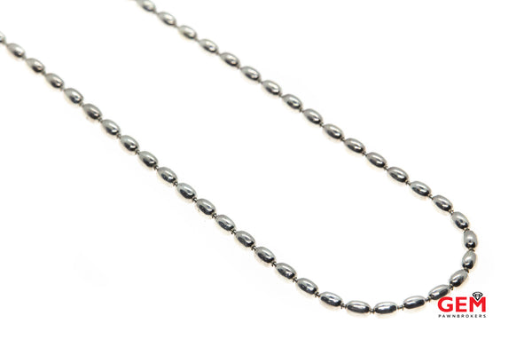 "Discontinued ALE Pandora 3mm Beaded Chain 925 Sterling Silver 23.8"" Necklace"