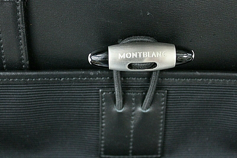Montblanc Nightflight Black Leather and Nylon Overnight Travel Bag