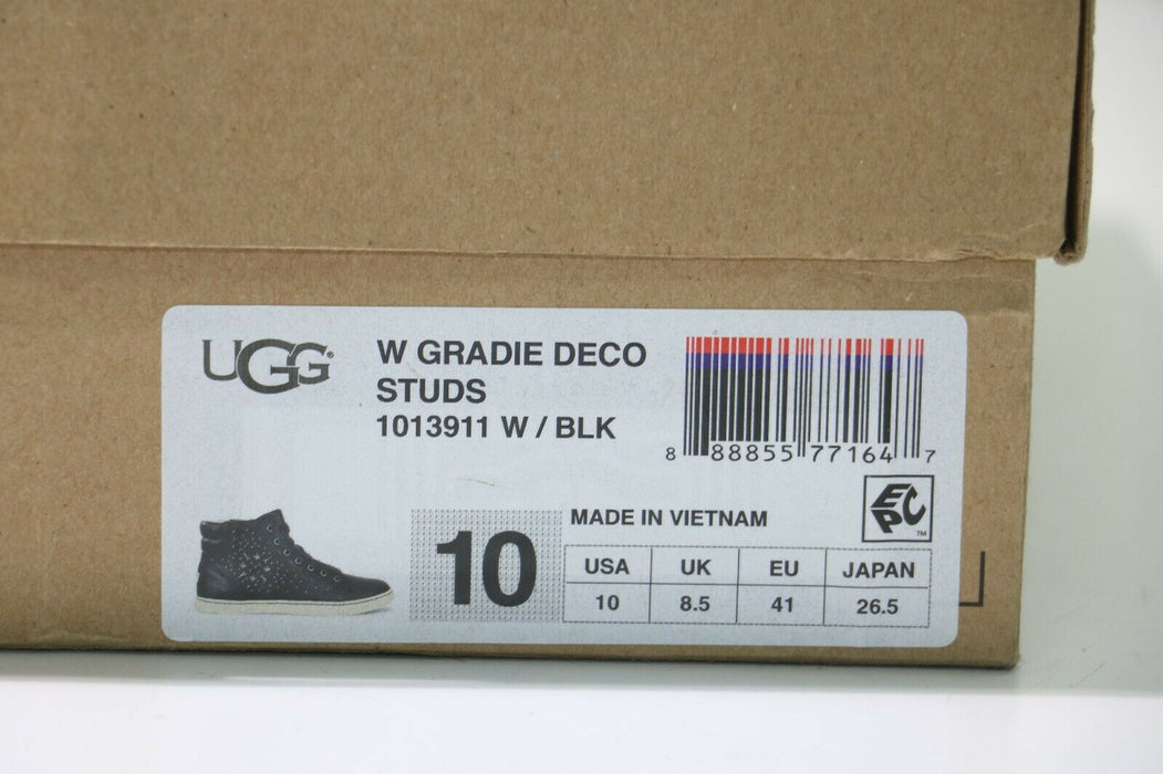 Ugg: Gradie Deco Studs Leather High Top Shoes - US Woman's Sz 10