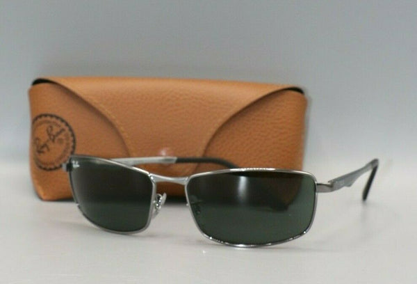 Ray Ban RB3498-004/71 64 Gunmetal with Green Lens