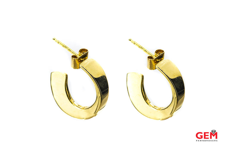 Robert Lee Morris 18k 750, Yellow Gold Polished Hoop Pair Earrings