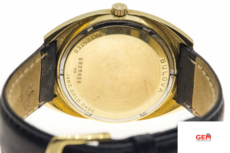 Vintage Bulova Accutron 14K Yellow Gold Day/Date Tuning Fork M9 Watch