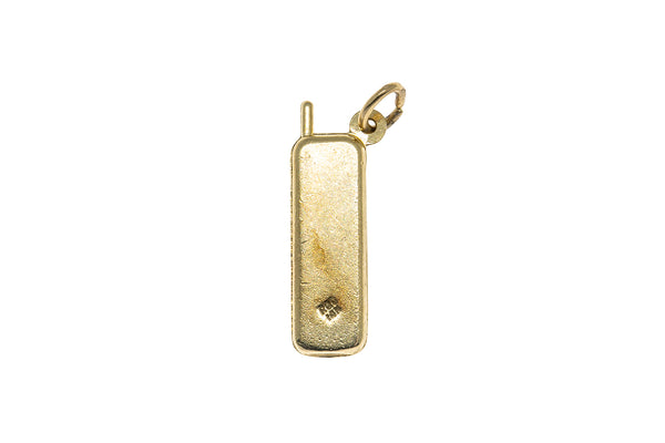 Rembrandt Charms Vintage Cordless Phone Charm 14K 585 Yellow Gold Pendant