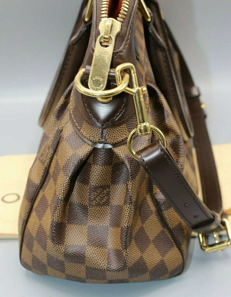 Louis Vuitton Damier Trevi PM Ebene Women's Shoulder Bag N51997