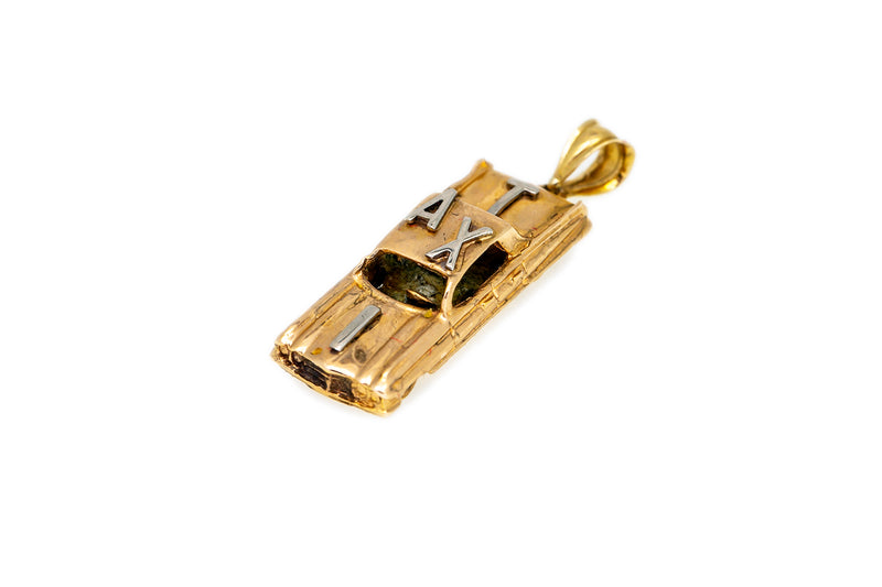 Vintage Yellow Gold New York City NYC Taxi Cab 14k 585 Charm Pendant