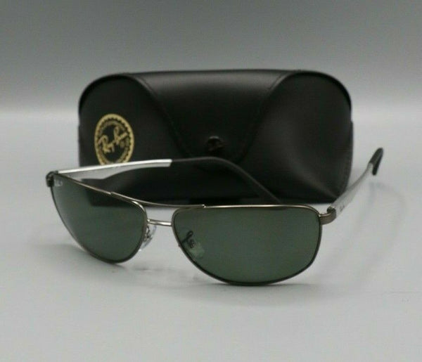 Ray Ban 3506 029/9A 64mm Matte Gunmetal Green Polarized Lenses