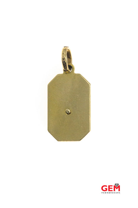 Religious Charm Pendant Crucifix Cross Tag 14Kt Yellow Gold 585