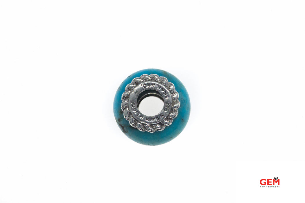 Judith Ripka Rope Turquoise Cubic Zirconia 925 Sterling Silver Bead CZ Charm