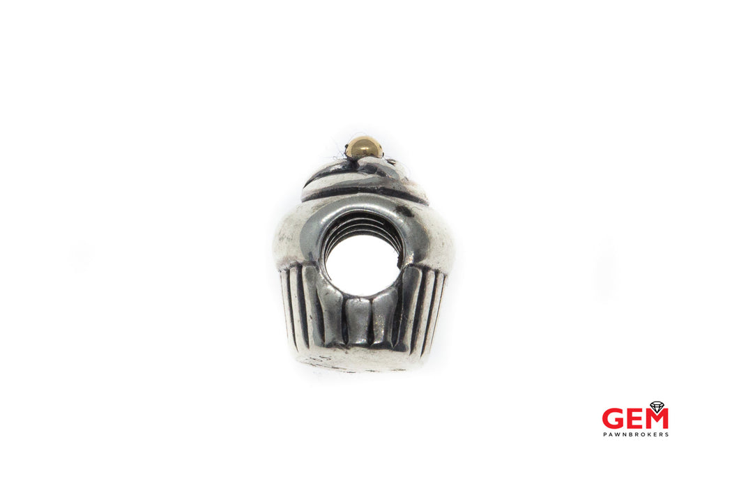 Pandora ALE Cupcake Two Tone S925 Sterling Silver Charm Pendant Bead