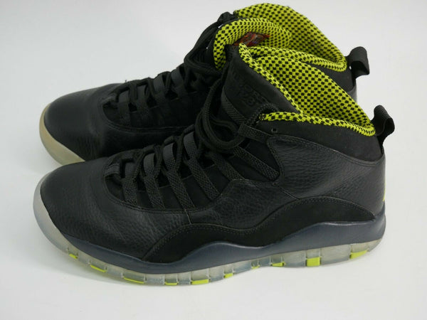 Nike Air Jordan 10 Retro Men's Shoes Black/Green-Grey-Anthracite 310805-033 Sz 9