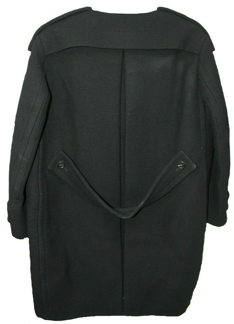 Burberry Prorsum FW 11 Collection Black Wool Collarless Coat Size 44