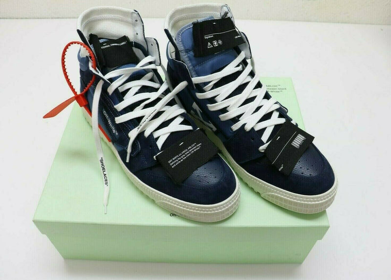 Off-White Off Court 3.0 Hi Top Sneaker in Blue sz 44 / US 11 Pre-owned w/Box