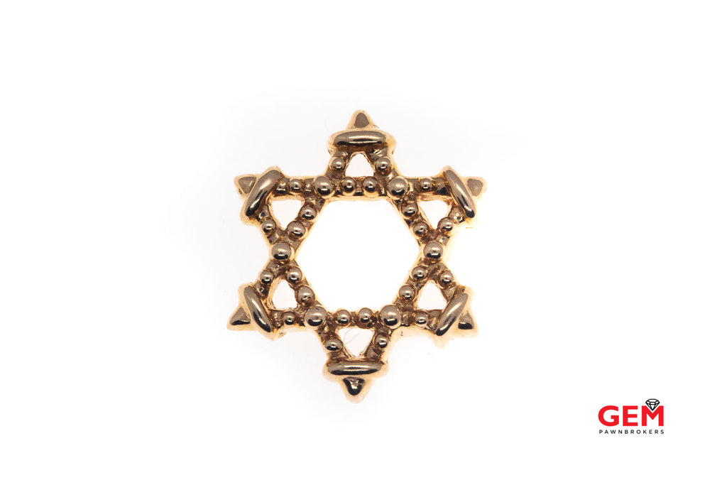 14 KT Rose Gold Star of David Shield Charm Pendant