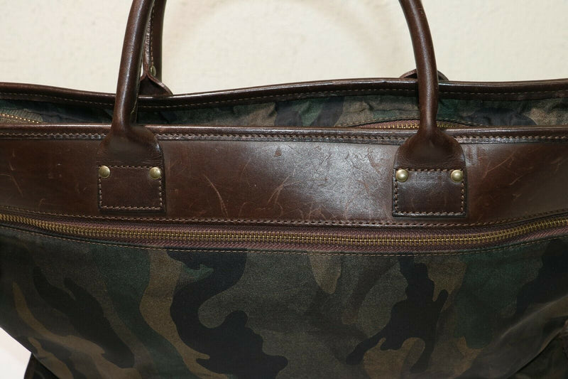 Felisi: Camouflage leather-Trimmed Briefcase
