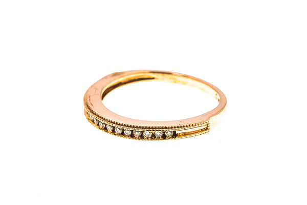 Kays Diamond Milgrain Accent Band 14K 585 Rose Gold Ring Size 6 1/4