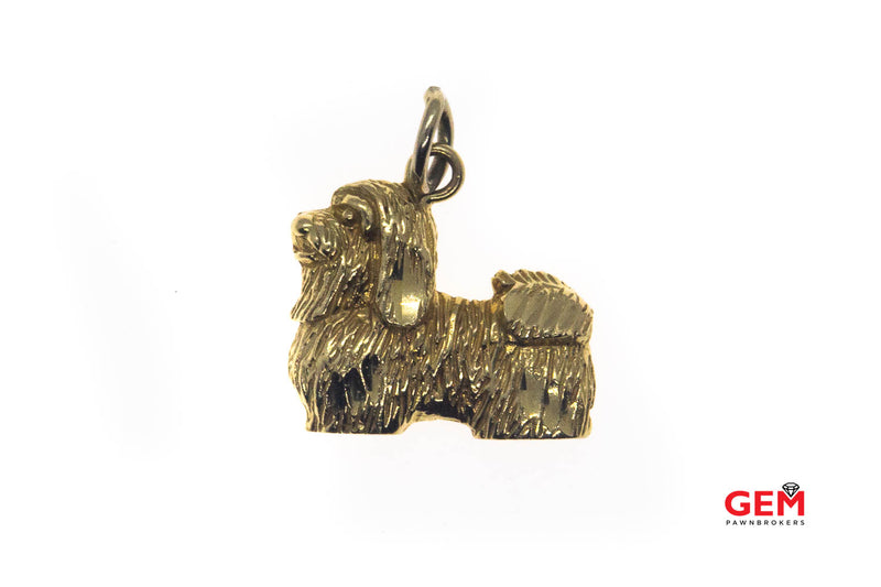 Shih Tzu Show Dog Charm 14K 585 Yellow Gold Animal Lover Charm