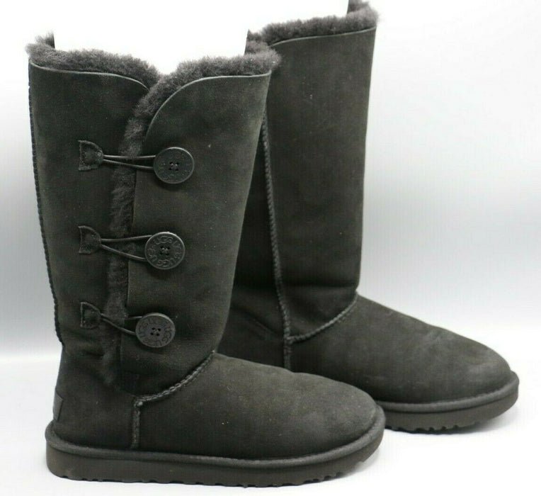 Ugg Bailey Button Tripplet II Boots Black 1016227 US Size 8 EUR Size 39