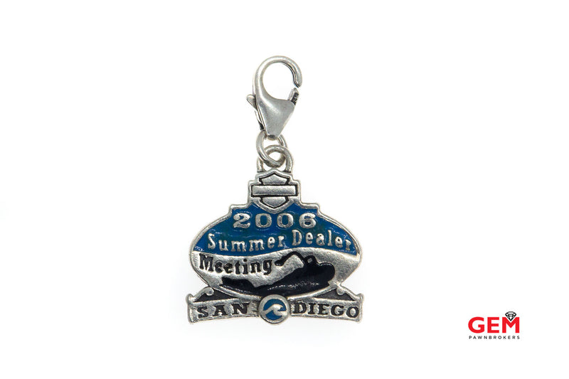 Mod Jewelry 2006 Summer Dealer Meeting San Diego Charm Solid 925 Sterling Silver Pendant