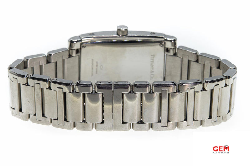 Tiffany & Co Grand Quartz Resonator Steel Rectangular Watch