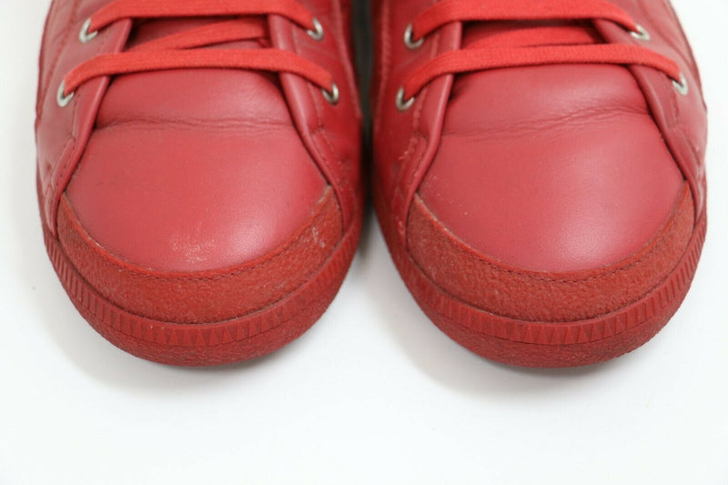 Maison Margiela Red High-Top Leather Sneakers | [S57WS0105] | Size US 12, EUR 45