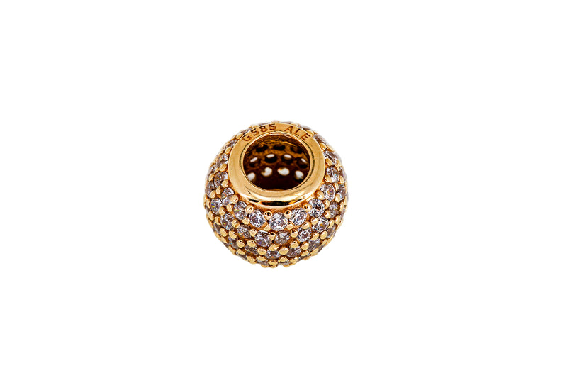Pandora ALE Clear Pave Lights CZ Cubic Zirconia Bead 14k 585 Yellow Gold Charm ALE 585 1