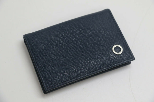 BVLGARI: MAN BUSINESS CARD HOLDER - Sapphire