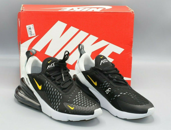 Nike Air Max 270 GS Size 5Y Womens Size 8 Black/Amarillo Yellow 943345-016