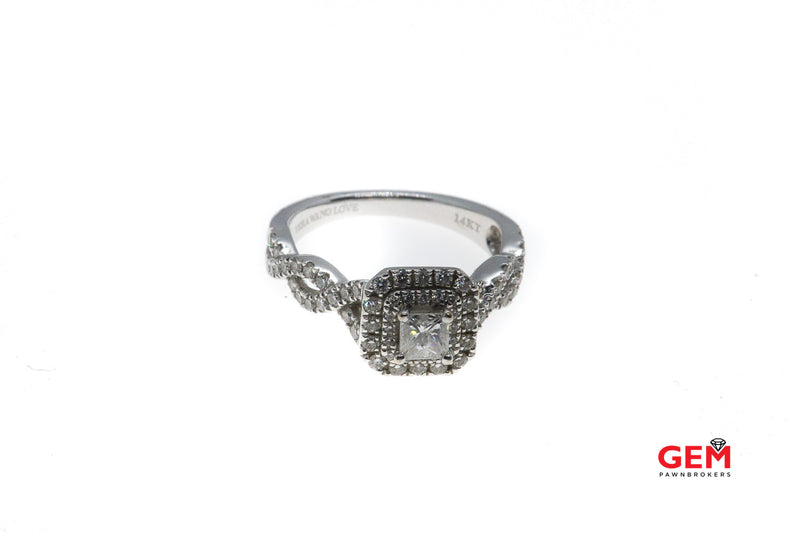 Vera Wang 14 KT Solid White Gold Diamond Engagement Ring
