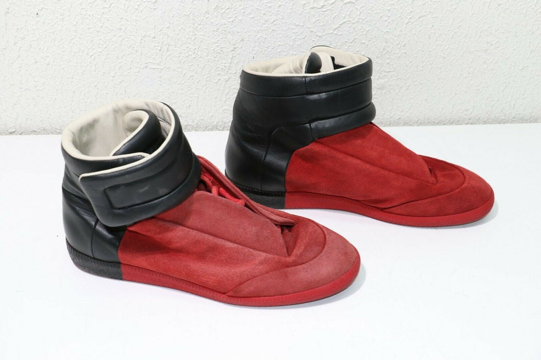 Maison Martin Margiela Future High Top Red/Black Suede Size 43 Sneakers
