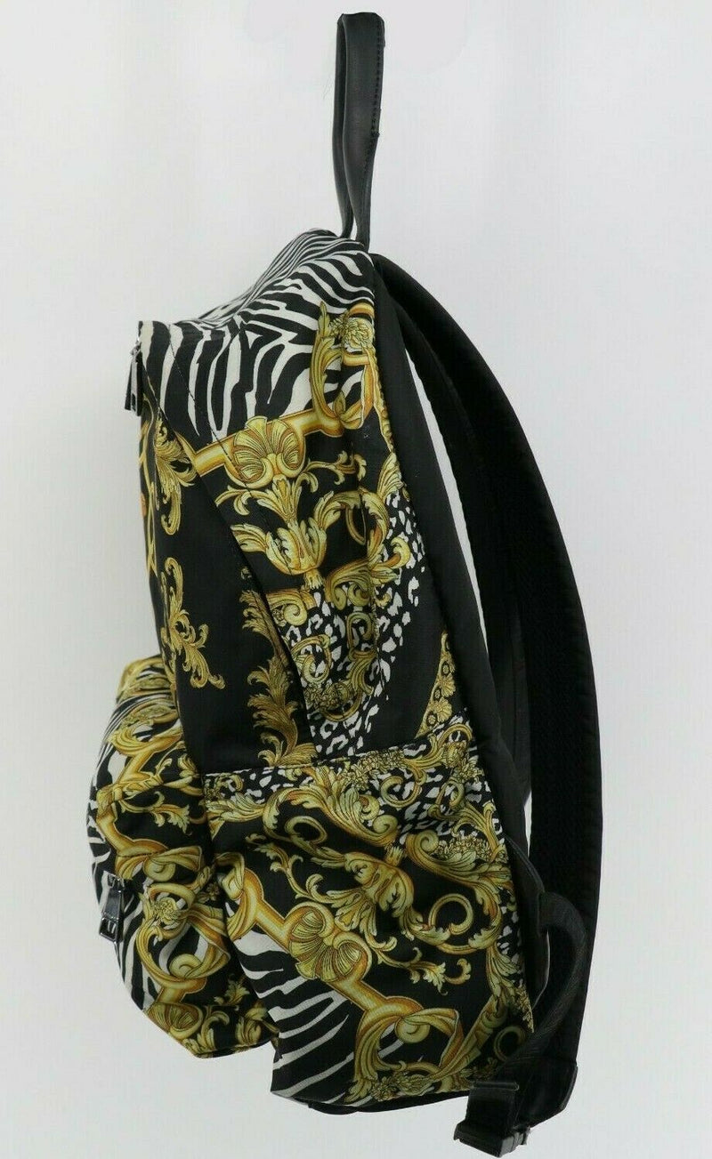 Versace Baroque Zebra Print Backpack DFZ5350