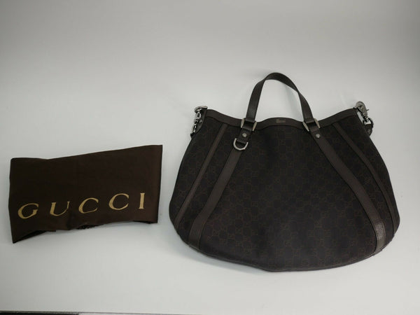 GUCCI Brown GG Canvas Abbey Hobo Bag 268641