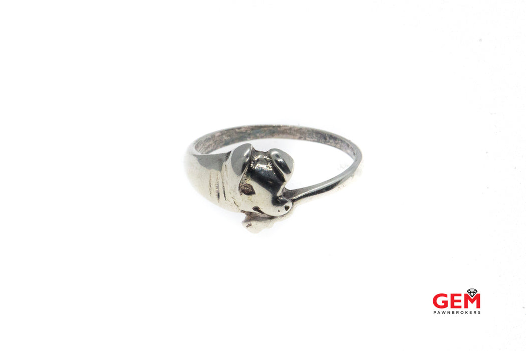 Handmade Sterling Silver 925 Pig Piggy Ring Size 6.5 Farm Animal