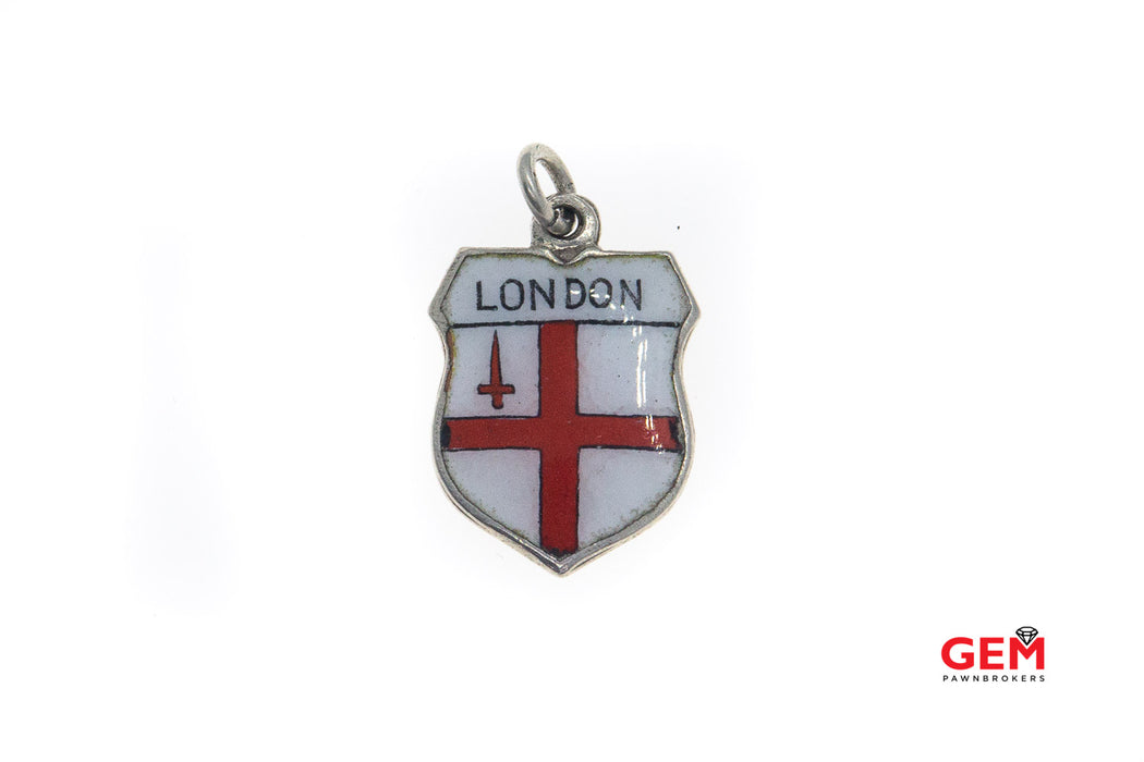 Fritz Reu & Co Silver 800 London Charm Pendant Traveler