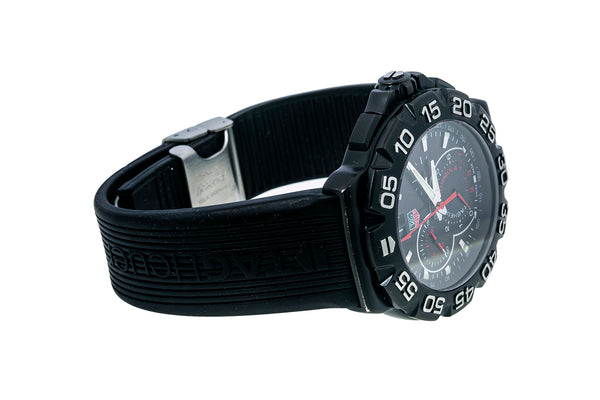 Tag Heuer CAH1012 Formula 1 PVD 44mm Black Multi Dial Rubber Band Watch