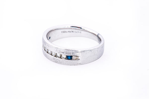 Zales Vera Wang Love 1/4 CT Diamond Band 14K 585 White Gold Ring Size 9 3/4