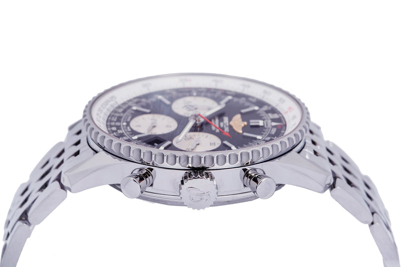Breitling AB0120 Navitimer 01 43mm Black Dial Stainless Steel Chronograph Watch