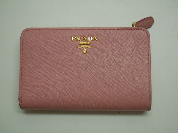 Prada Small Saffiano Wallet 1ML225 Cameo Powder Pink Tan Beige