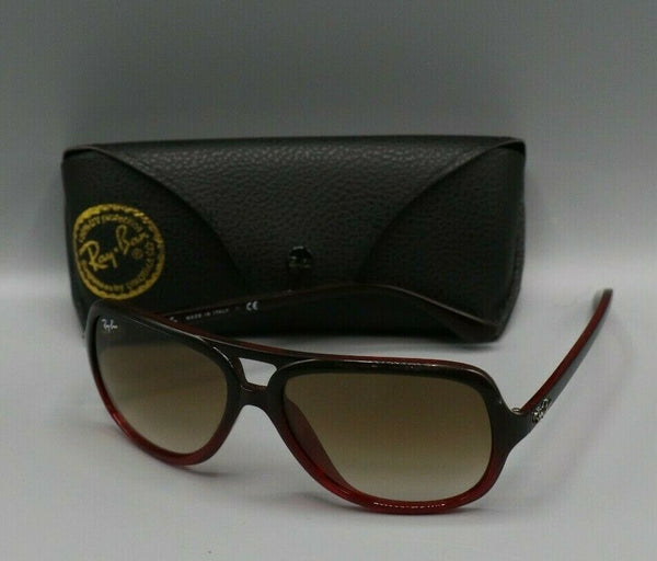 Ray-Ban Turbo Aviator Sunglasses Brown Nylon Frame Brown Gradient Lens RB4162
