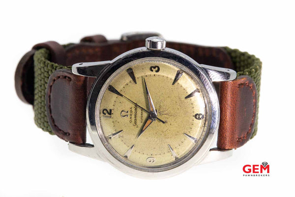 Omega Seamaster 2577 Cal 351 Steel Automatic Vintage Watch