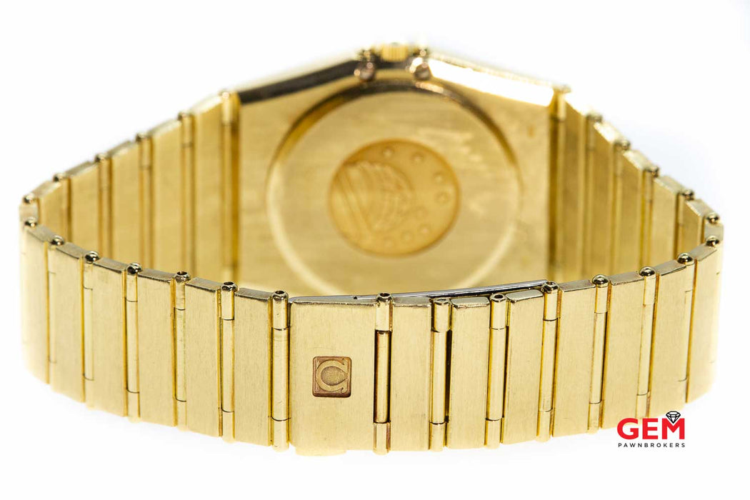 Omega Constellation 298.0018 1431 Solid 18K 750 Yellow Gold 32mm Wrist Watch
