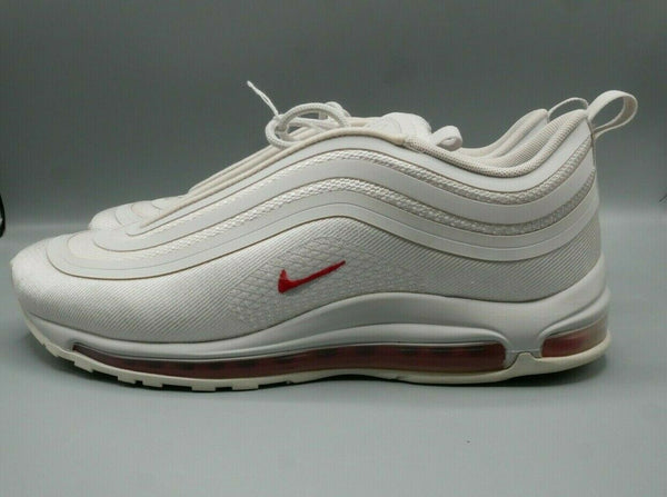 Nike Air Max 97 Ultra 17 Vast Grey University Red AH9947-002 Sz 10.5 Eur 44.5