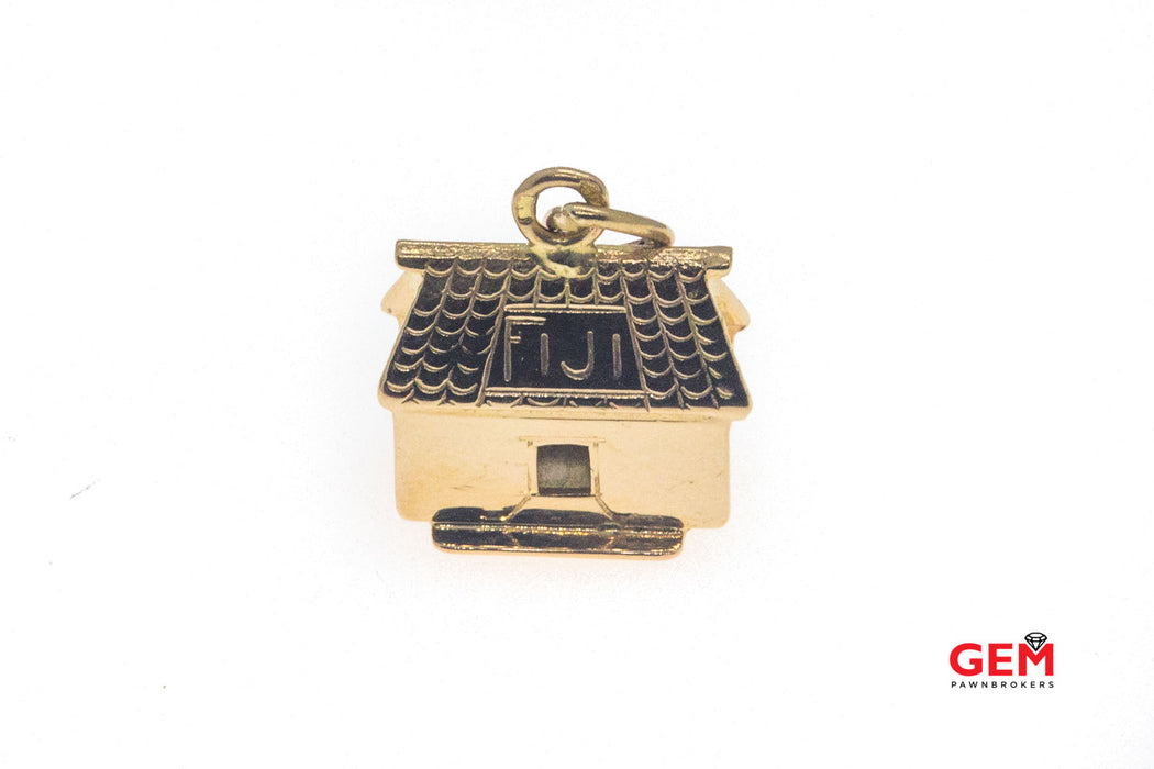 14 KT Rose Gold Fiji House Charm