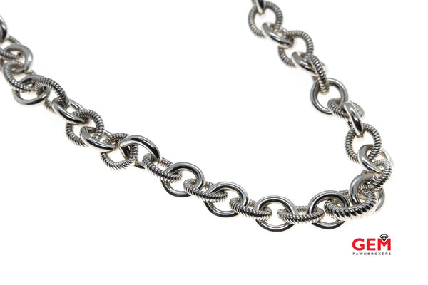 Judith Ripka 925 Sterling Silver Necklace Chain 17""