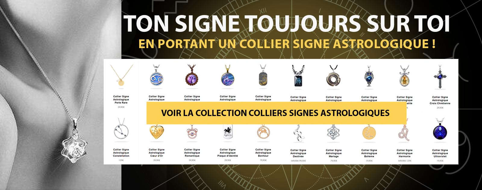 Collection Colliers Signes Astrologiques | Univers Astrologie