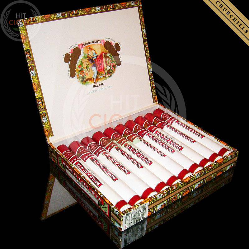 Romeo y Julieta Churchills Tubos (Box of 10) - HitCigars