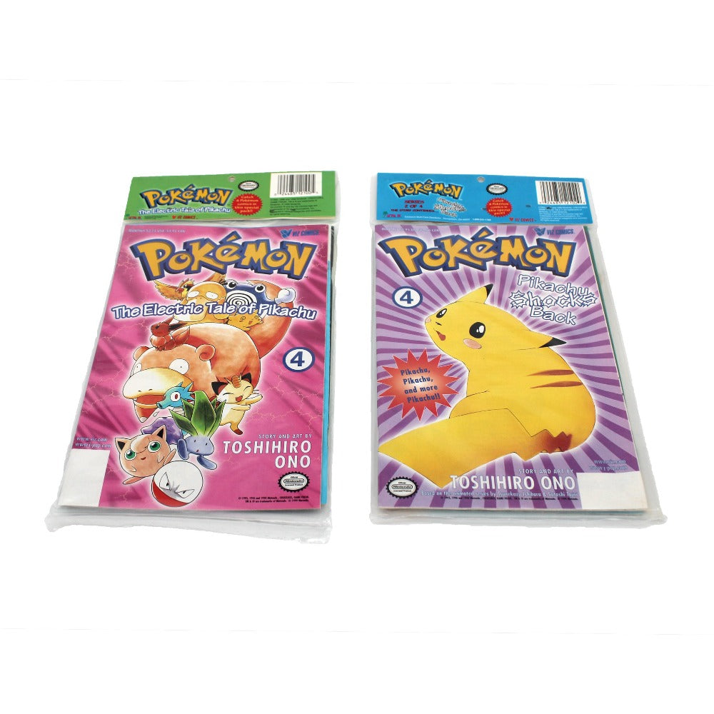 The Electric Tale of Pikachu & Pikachu Shocks Back Vintage Sealed Comic Combo from 1999