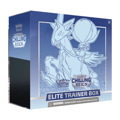 Pokemon Sword & Shield Chilling Reign | Elite Trainer Box | Ice Rider Calyrex