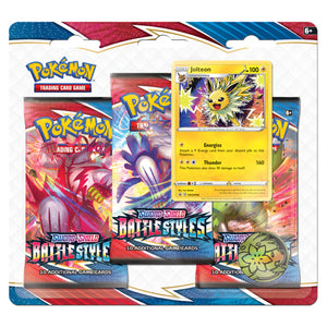 Pokemon Sword & Shield Battle Styles | 3 Pack Blister | Jolteon | Pre-Order