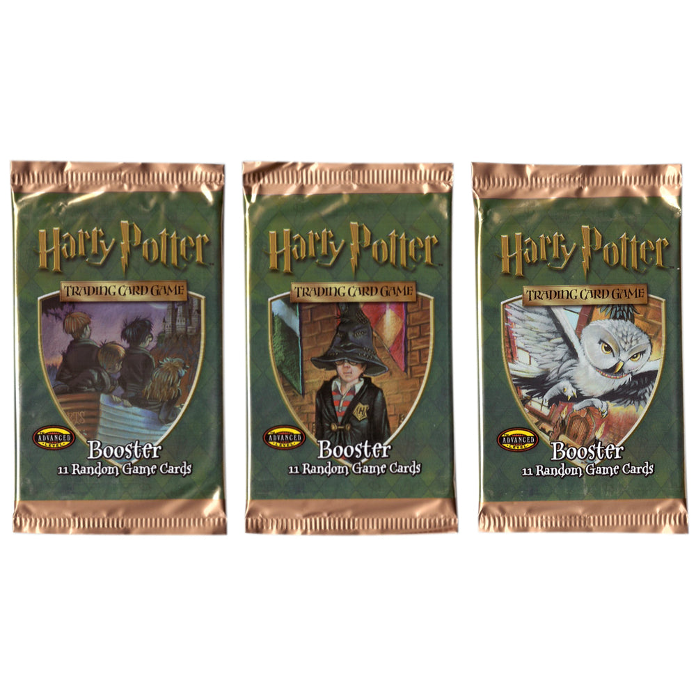 Vintage Harry Potter TCG booster pack artwork set