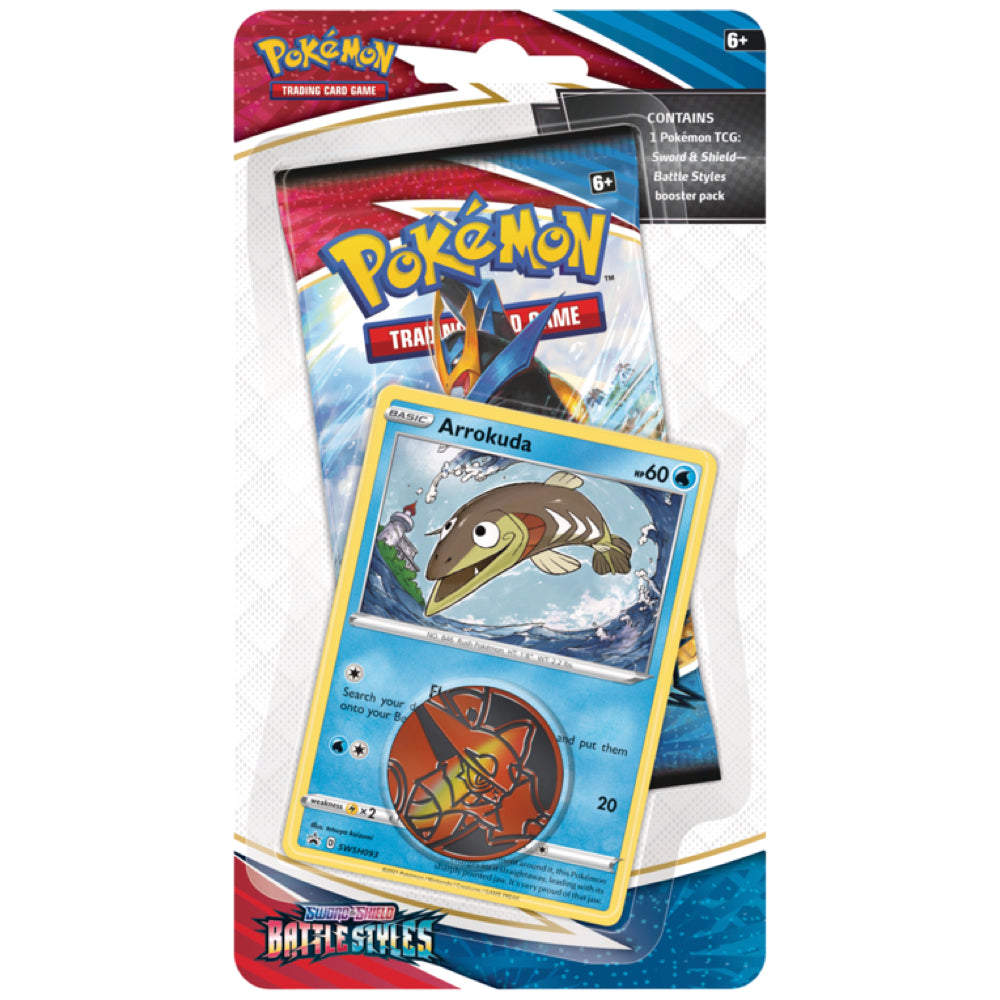 Pokemon Battle Styles Checklane Blister Pack | Arrokuda
